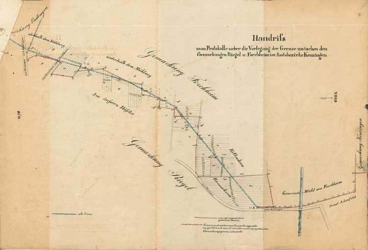 Verlegung der Grenze zwischen Forchheim und Riegel, Bild 1