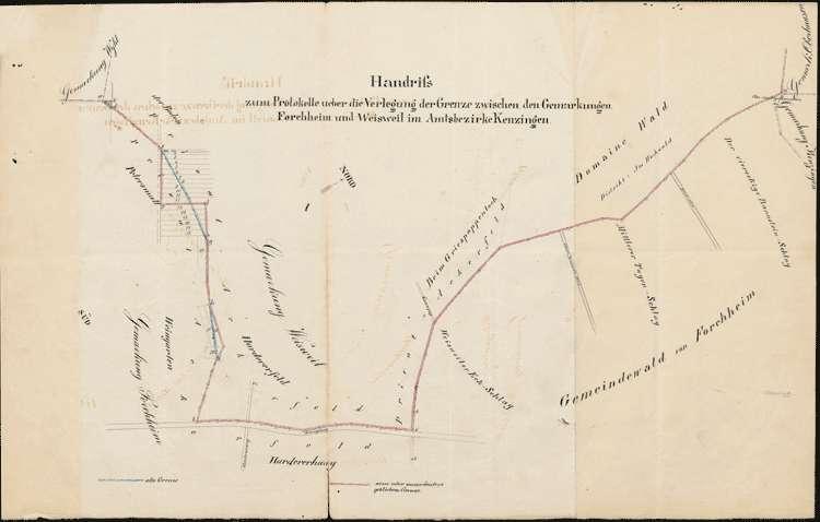 Verlegung der Grenze zwischen Forchheim und Weisweil, Bild 1
