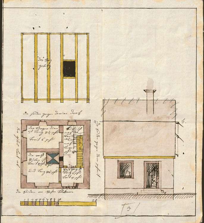 Bau einer Wachstube und eines Gefängnisses zu Nordweil, Bild 1