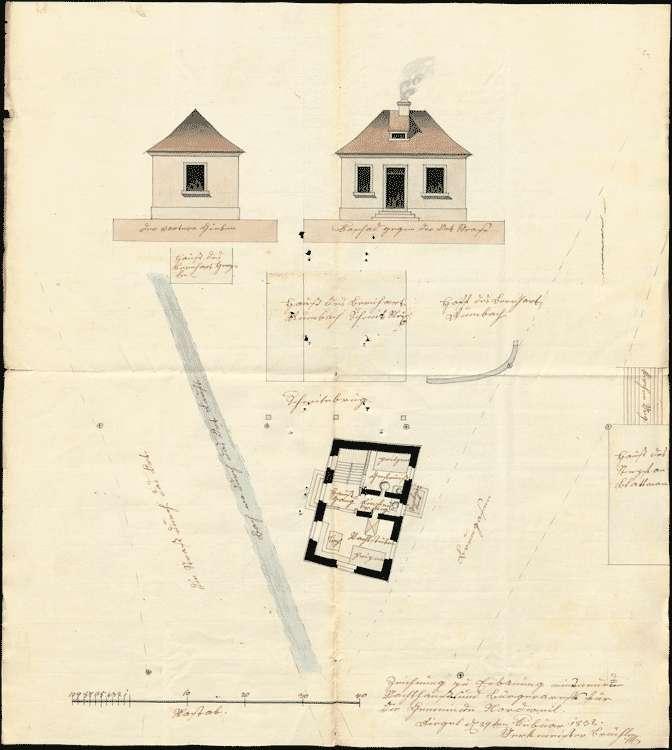 Bau einer Wachstube und eines Gefängnisses zu Nordweil, Bild 2