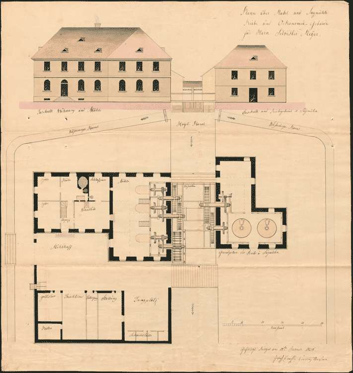 Antrag des Silvester Meyer zu Riegel auf Errichtung einer Reibe- und Sägemühle zu Riegel, Bild 2