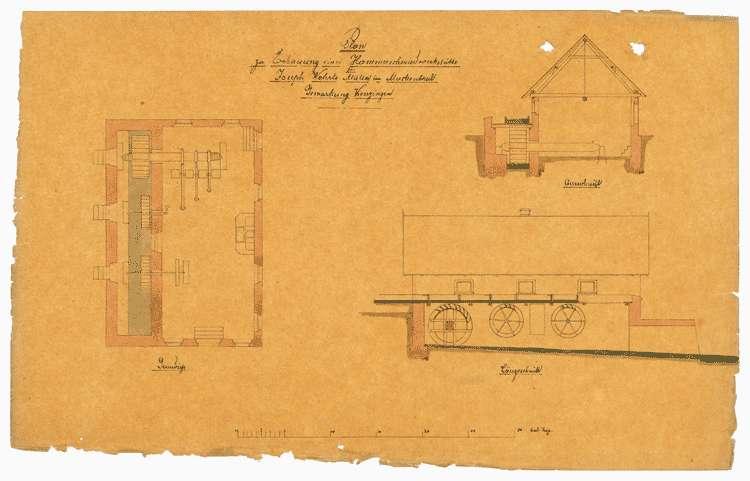 Bitte des Müllers Joseph Wehrle, Muckental, um Erbauung einer Hammerschmiedwerkstätte, Bild 1