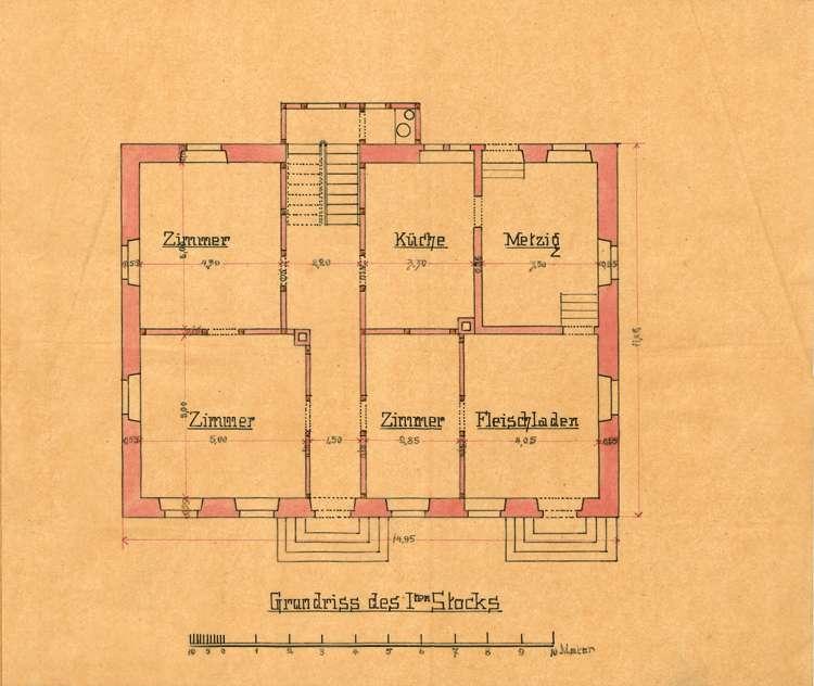 Erstellung eines Wohnhauses mit einbegauter Schlächterei durch den Metzger Leo Ehinger von Arlen, Bild 2