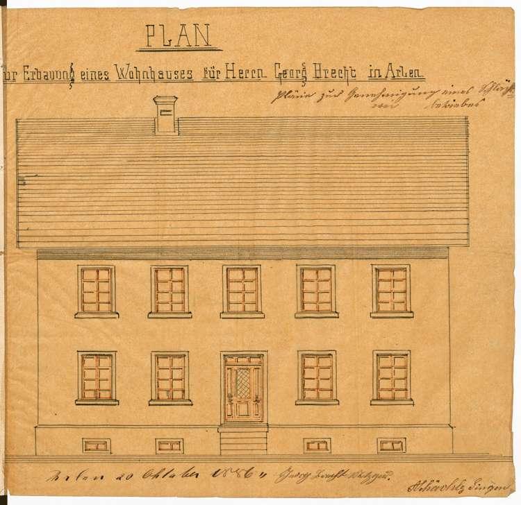 Bitte des Metzgers Georg Bracht in Arlen um Genehmigung zur Errichtung einer Schlächterei, Bild 1