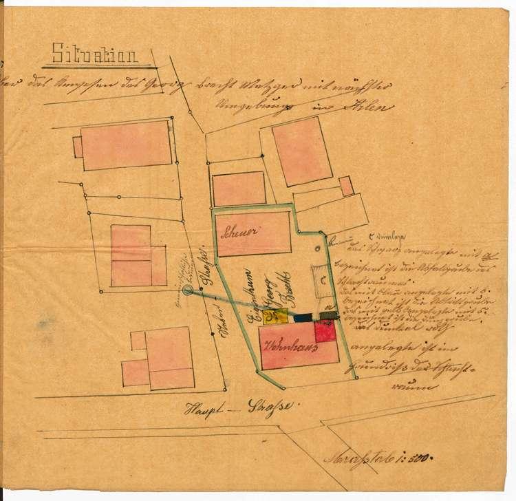 Bitte des Metzgers Georg Bracht in Arlen um Genehmigung zur Errichtung einer Schlächterei, Bild 2