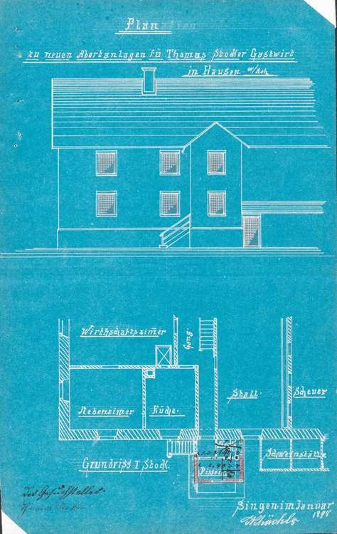 Betrieb der Schankwirtschaft mit Weinbranntausschank Zum Kranz durch Thomas Stocker in Hausen an der Aach, Bild 1