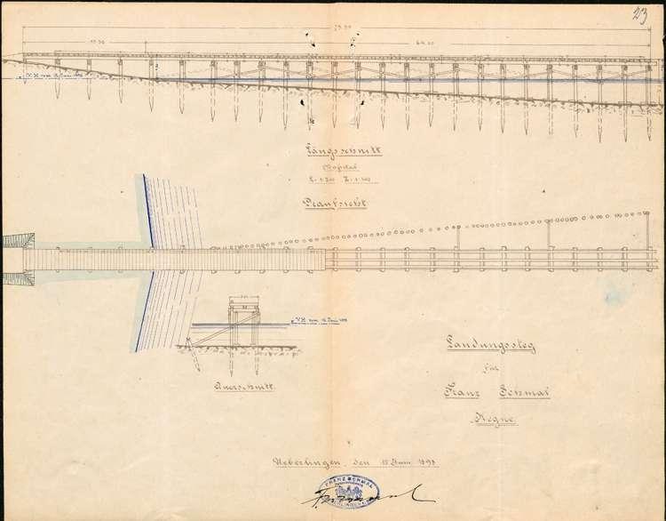 Erstellung eines Landestegs bei Hegne durch Bauunternehmer Franz Schmal in Radolfzell, Bild 1