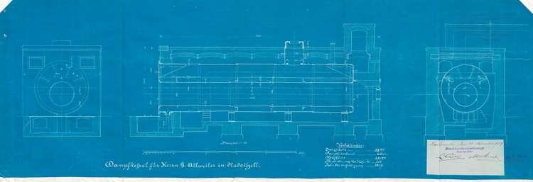 Genehmigung von Dampfkesselanlagen für Gotthard Allweiler in ...