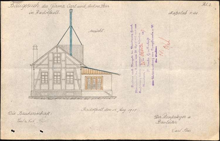Genehmigungen zur Aufstellung feststehender Dampfkessel sowie Baugesuche der Firma Karl und Anton Stier in Radolfzell und des Sägewerks Georg Müller II in Ramsbach, Bild 2