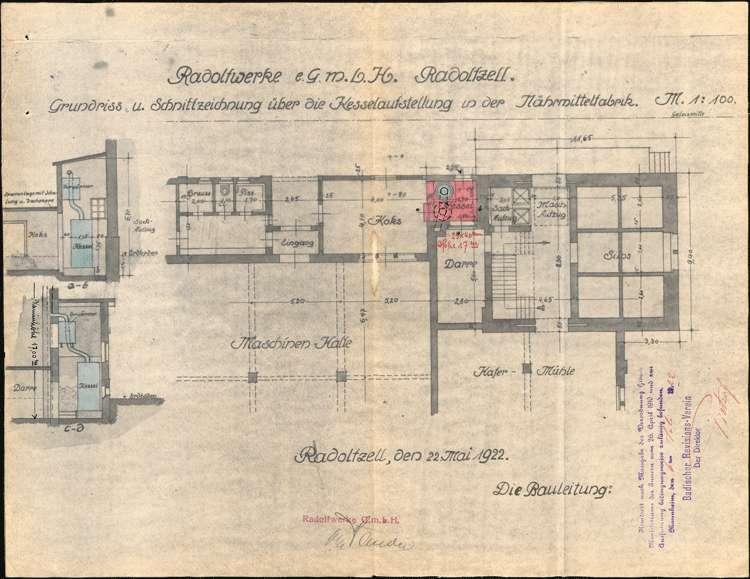 Anlegung von Dampfkesseln für die Firma Radolfwerke GmbH in Radolfzell, Bild 2
