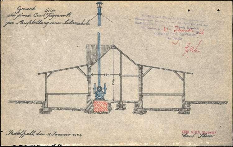 Genehmigung eines feststehenden Dampfkessels für Karl Stier in Radolfzell, Bild 3