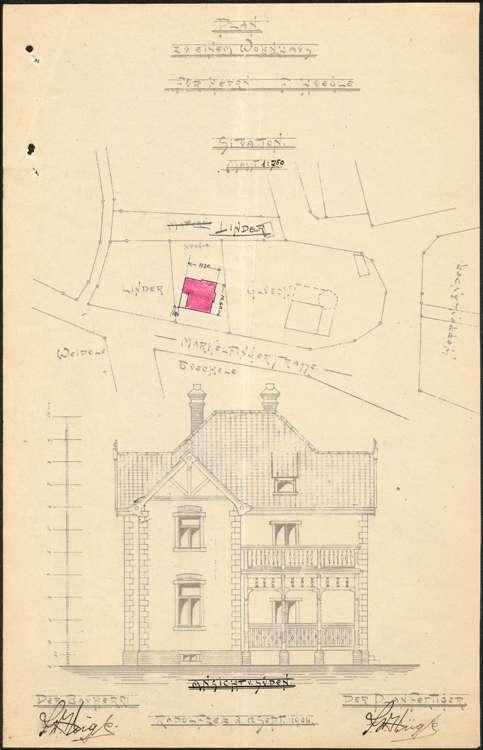 Baugesuche in Radolfzel: Friedrich Hügle, Josef Humbert, Ernst Zell, Simon Joos, Bild 1