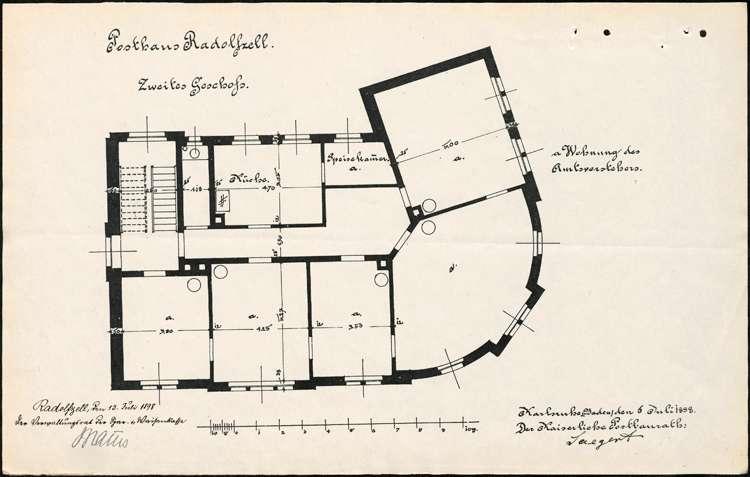 Neubau eines Postgebäudes in Radolfzell durch die Spar- und Waisenkasse, Bild 3