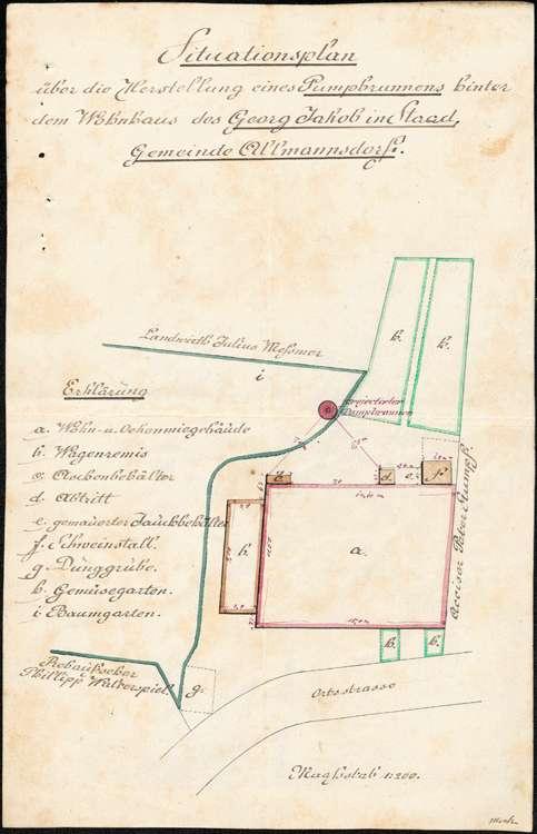 Herstellung und Unterhaltung von Pumpbrunnen in Allmannsdorf, Bild 2