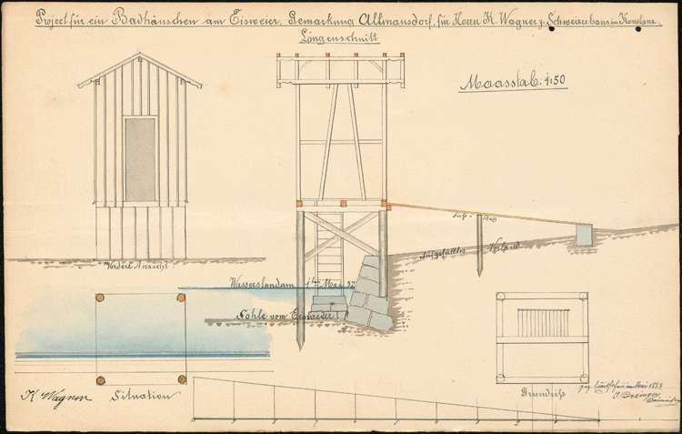 Errichtung einer Badeanstalt in Allmannsdorf durch Bierbrauer Conrad Wagner aus Konstanz, Bild 1