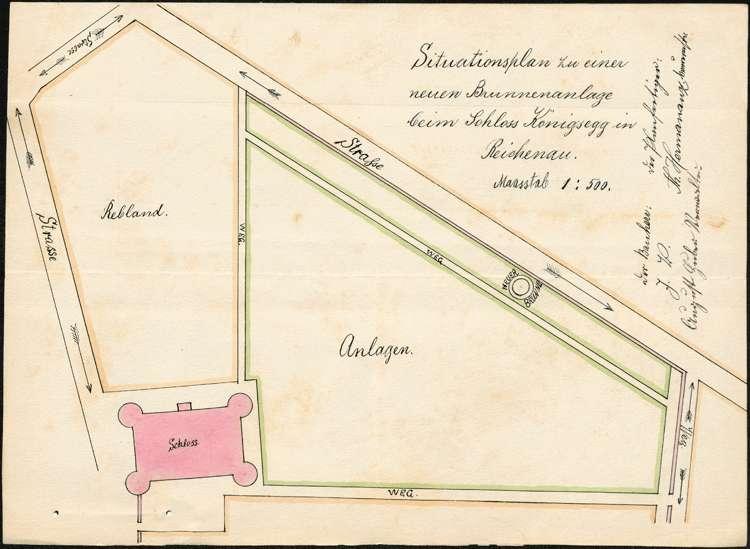 Errichtung einer Brunnenanlage durch Dr. Stiegele auf der Reichenau, Bild 1