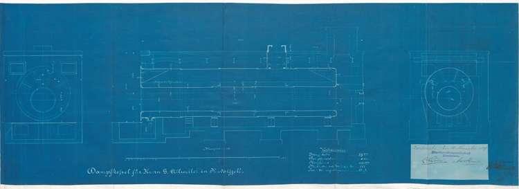 Genehmigungs-Urkunde für Gotthard Allweiler in Radolfzell zur Aufstellung eines Dampfkessel, Bild 1