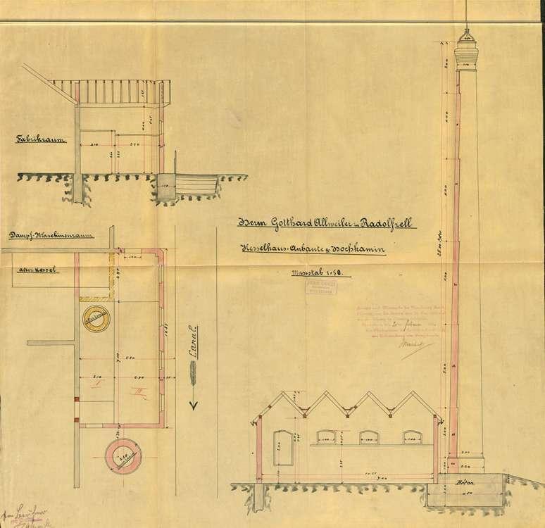 Genehmigungs-Urkunde für Gotthard Allweiler in Radolfzell zur Aufstellung eines Dampfkessel, Bild 2