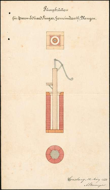 Herstellung von Pumpbrunnen durch Privatpersonen zu Wangen, Bild 1