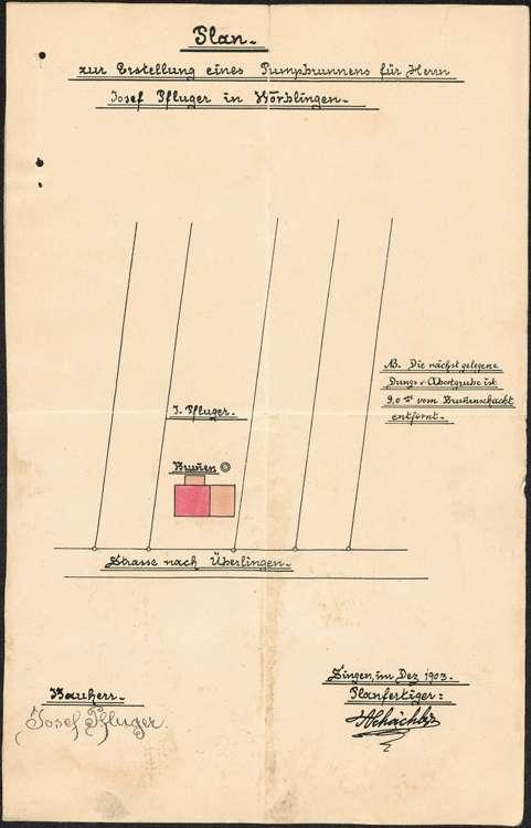 Erstellung eines Pumpbrunnens durch Josef Pfluger in Worblingen, Bild 1