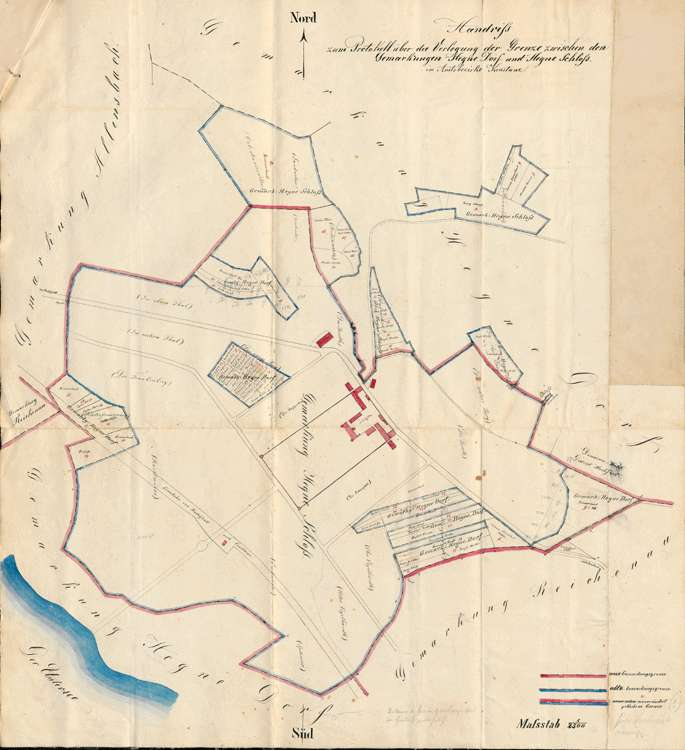 Protokoll über die Verlegung der Grenze zwischen den Gemarkungen Hegne-Dorf und Hegne-Schloss, Bild 1