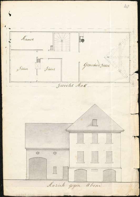 Bau und Unterhaltung des Schulhauses samt Ökonomiegebäude in der Gemeinde Markelfingen, Bild 3