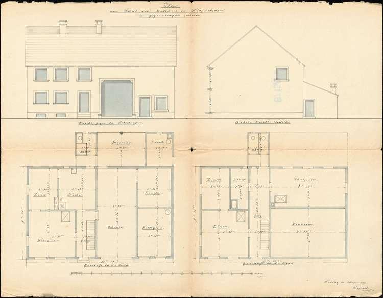 Erbauung und Unterhaltung des Schulhauses zu Litzelstetten, Bild 1