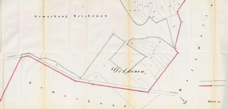Protokoll über die Verlegung der Grenze zwischen den Gemarkungen der Gemeinden Reichenau und Wollmatingen, Bild 2