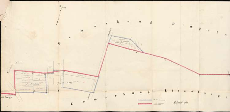 Verlegung der Grenzen zwischen den Gemarkungen der Gemeinden Dingelsdorf und Litzelstetten, Bild 1