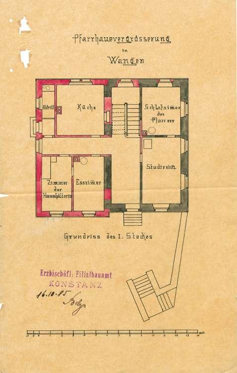 Unterhaltung und Umbau des Pfarrhaus in Wangen, Bild 1