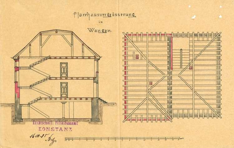 Unterhaltung und Umbau des Pfarrhaus in Wangen, Bild 3