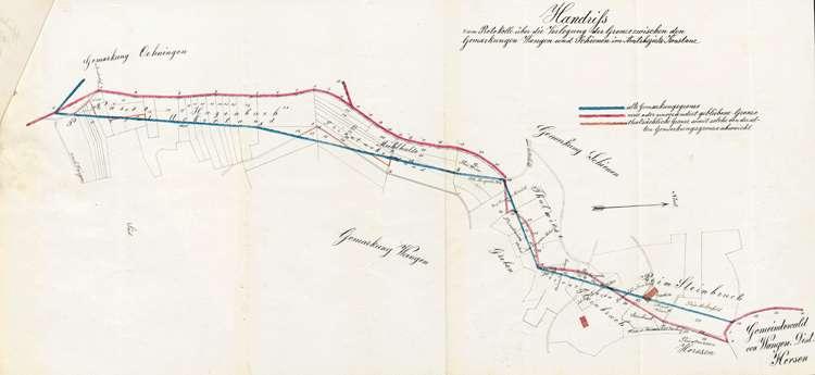 Verlegung der Gemarkungsgrenze zwischen den Gemeinden Schienen und Wangen, Bild 1