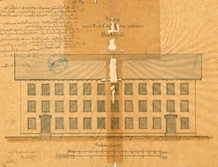 Bau und Betrieb der Trikotwebereifabrik Jakob Schiesser in Radolfzell, Bild 1