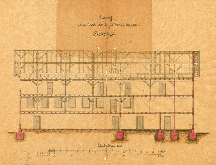 Bau und Betrieb der Trikotwebereifabrik Jakob Schiesser in Radolfzell, Bild 2