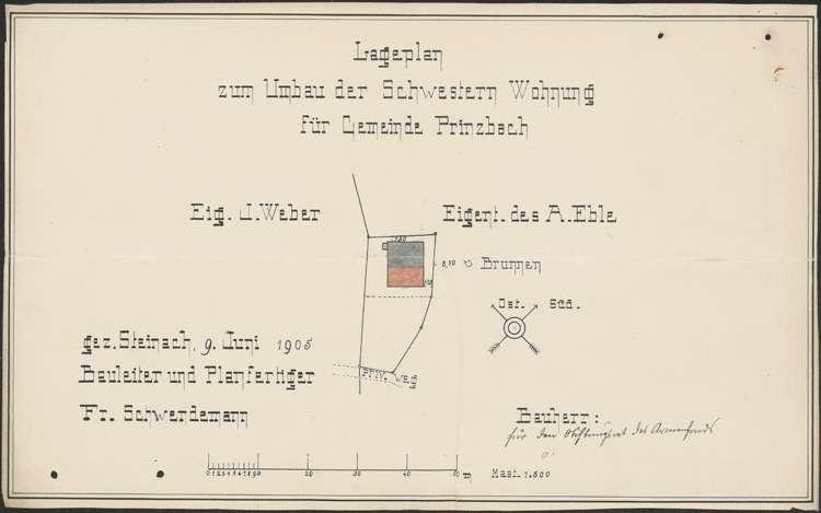 Bauliche Unterhaltung des Krankenschwesternhauses der Gemeinde Prinzbach, Bild 1