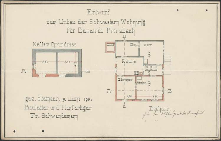 Bauliche Unterhaltung des Krankenschwesternhauses der Gemeinde Prinzbach, Bild 2