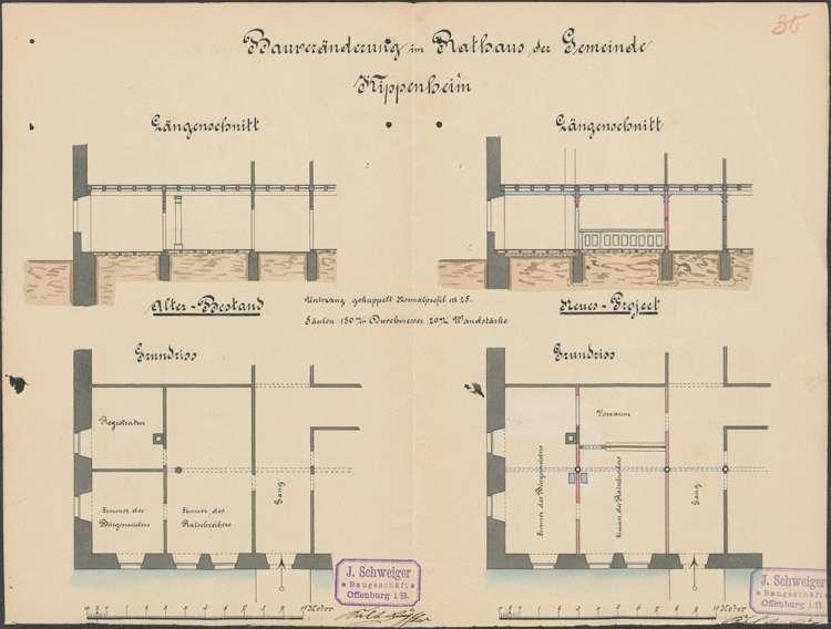 Bau und Unterhaltung des Rathauses in Kippenheim, Bild 1