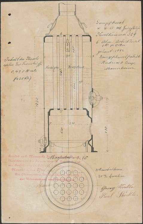 Aufstellung und Betrieb eines Dampfkessels durch die Gebrüder Stöckle in Schmieheim sowie dessen regelmäßige Überprüfung, Bild 2