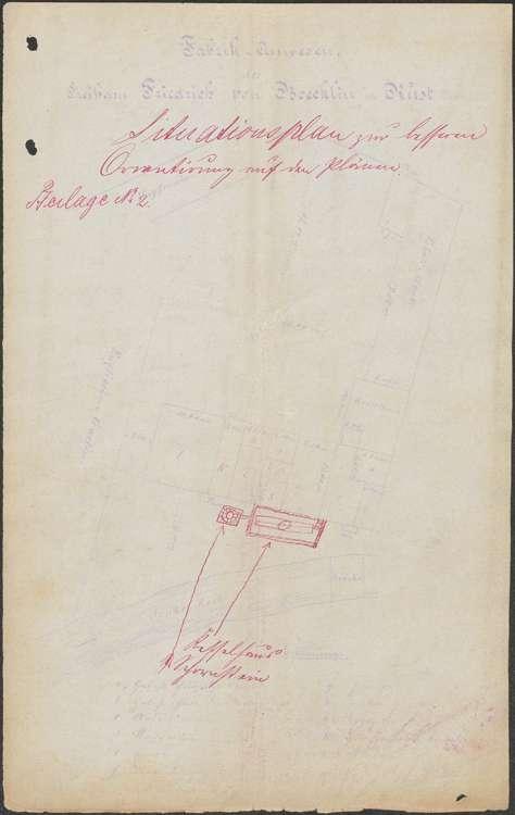 Gesuch der Verwaltung des Freiherrn von Böcklin in Rust um Genehmigung zur Aufstellung eines Dampfkessels sowie regelmäßge Überprüfung der Dampfkesselanlage, Bild 2