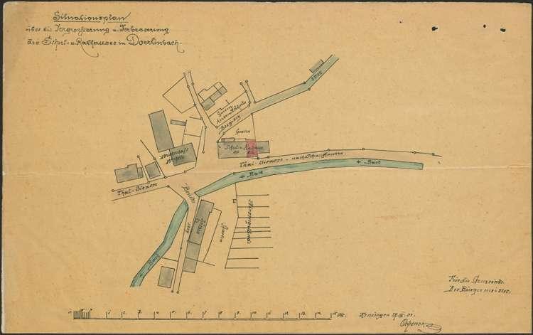 Erweiterung des Schul- und Rathauses in Dörlinbach, Neubau eines Rathauses sowie dessen Unterhaltung und Instandhaltung, Bild 1