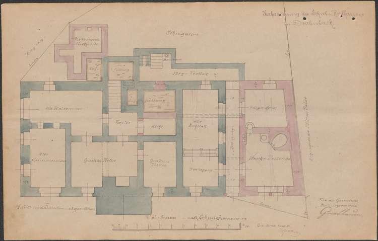 Erweiterung des Schul- und Rathauses in Dörlinbach, Neubau eines Rathauses sowie dessen Unterhaltung und Instandhaltung, Bild 3