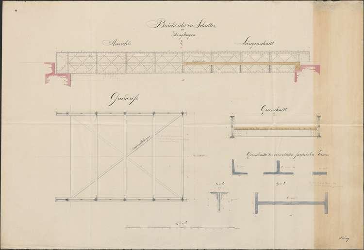 Herstellung einer steinernen Brücke über die Schutter in Dinglingen, Bild 1