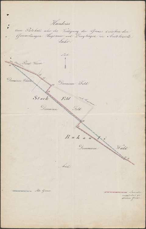 Verlegung der Gemarkungsgrenze zwischen den Gemeinden Hugsweier und Dinglingen, Bild 2