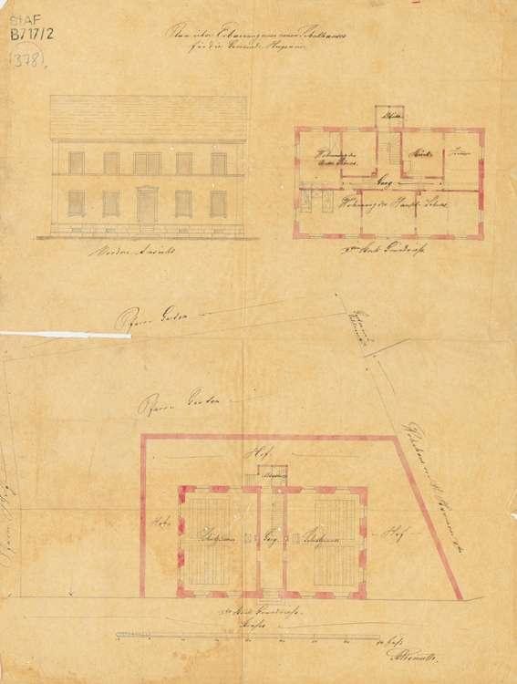 Bau und Unterhaltung des Schulhauses in der Gemeinde Hugsweier sowie Ausstattung der Schulräume, Bild 1