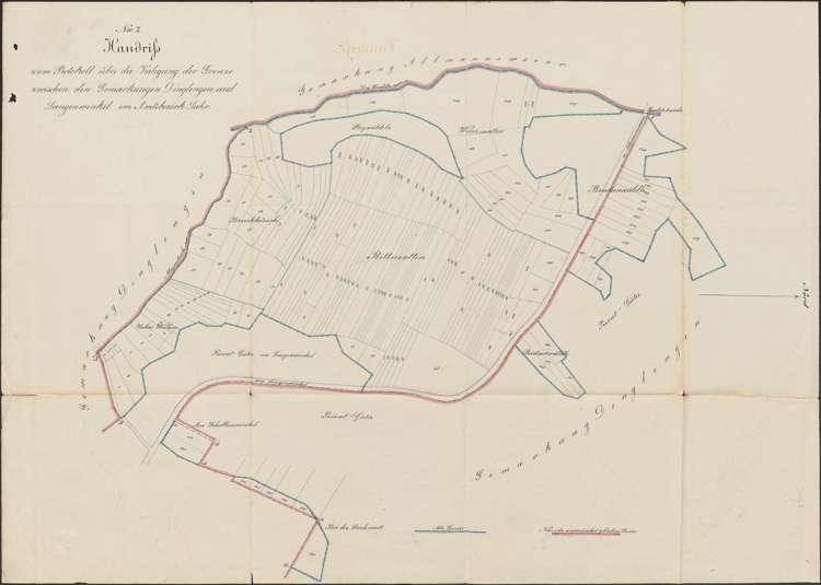 Verlegung der Gemarkungsgrenze zwischen den Gemeinden Dinglingen und Langenwinkel, Bild 2