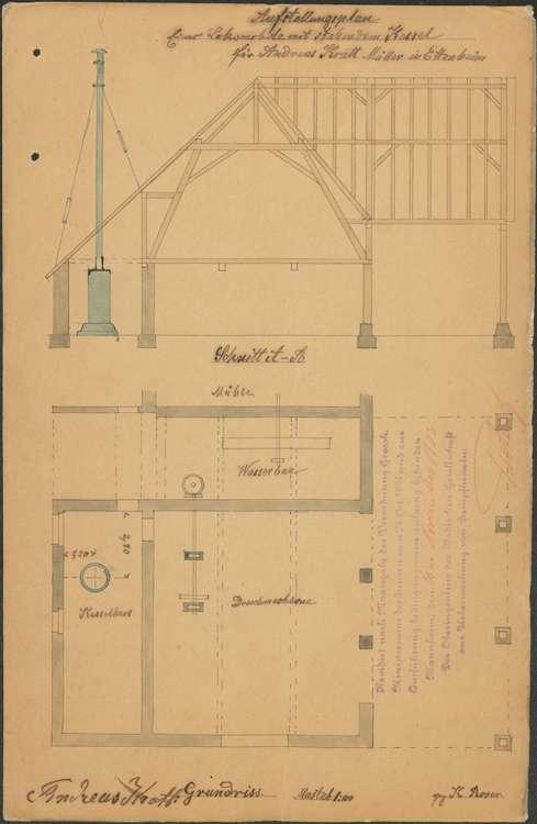Gesuch des Andreas Kratt zur Fuchsmühle in Ettenheim um Genehmigung zur Errichtung eines Dampfkessels sowie dessen Betrieb und Überwachung, Bild 3