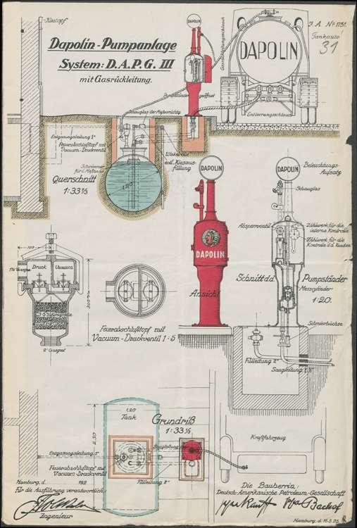 Gesuch der Firma C. F. Dietrich in Ettenheim um Genehmigung zur Errichtung einer Benzinzapfstelle ebendort; Auswechslung des alten Pumpständers, Bild 2