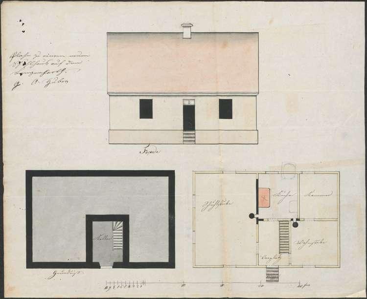 Bau eines neuen Schulhauses in Langenhard auf Gemarkung Sulz und dessen Instandhaltung, Bild 1