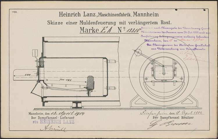 Aufstellung und Betrieb eines Dampfkessels im Sägewerk des Gustav Braun in Friesenheim, Bild 2