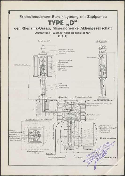 Gesuch der Rhenania-OSSAG Mineralölwerke AG in Ludwigshafen am Rhein um Genehmigung zur Errichtung einer Shell-Tankstelle auf dem Anwesen der Wilhelm Fuchs Reparaturwerkstatt in Kippenheim sowie Wartung der Anlage, Bild 2